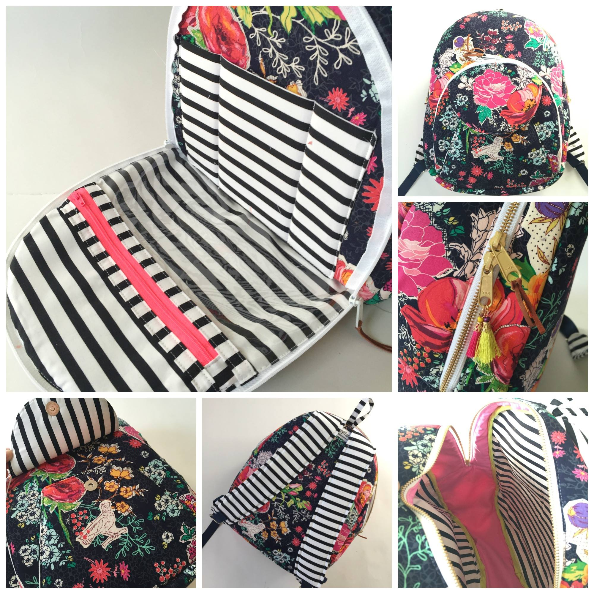 Sew Sweetness Cumberland Backpack, sewn by Natalie of Hungry Hippie
