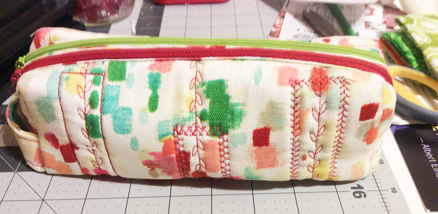 Sew Sweetness Annex Double-Zip Box Pouch, sewn by Ella
