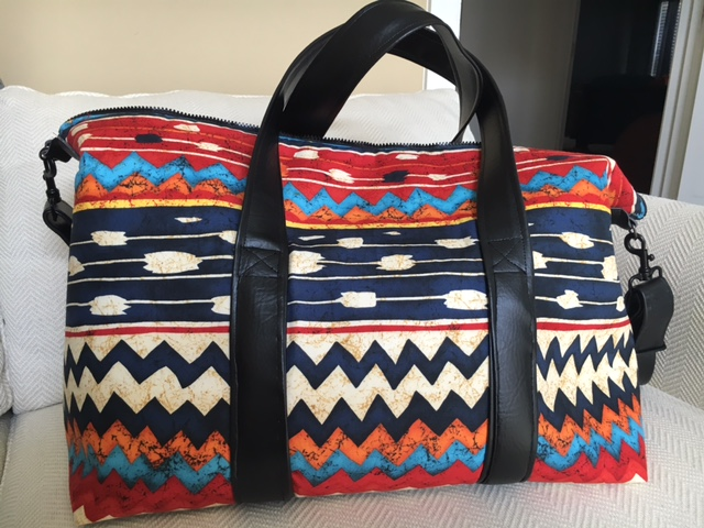 Sew Sweetness Emblem Duffle Bag, sewn by Dia