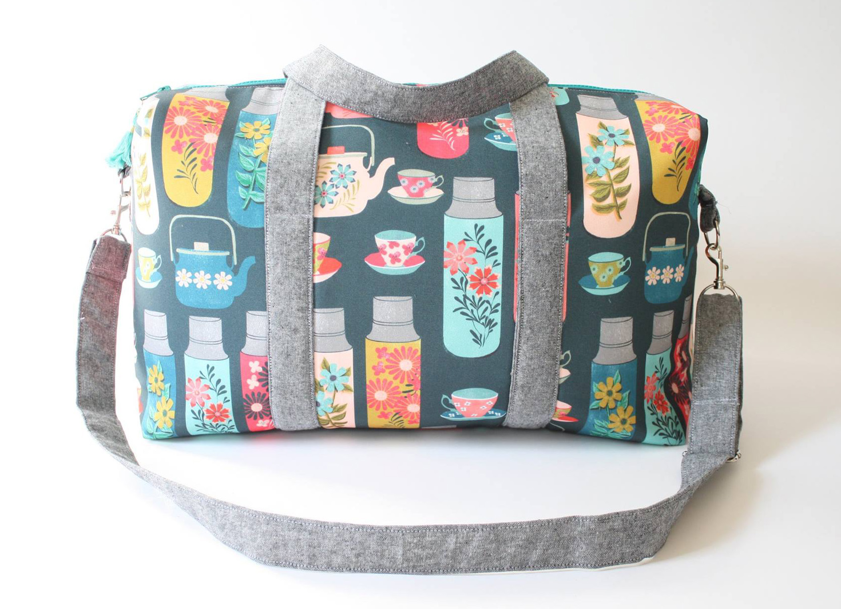 Sew Sweetness Emblem Duffle Bag, sewn by Natalie of Hungry Hippie