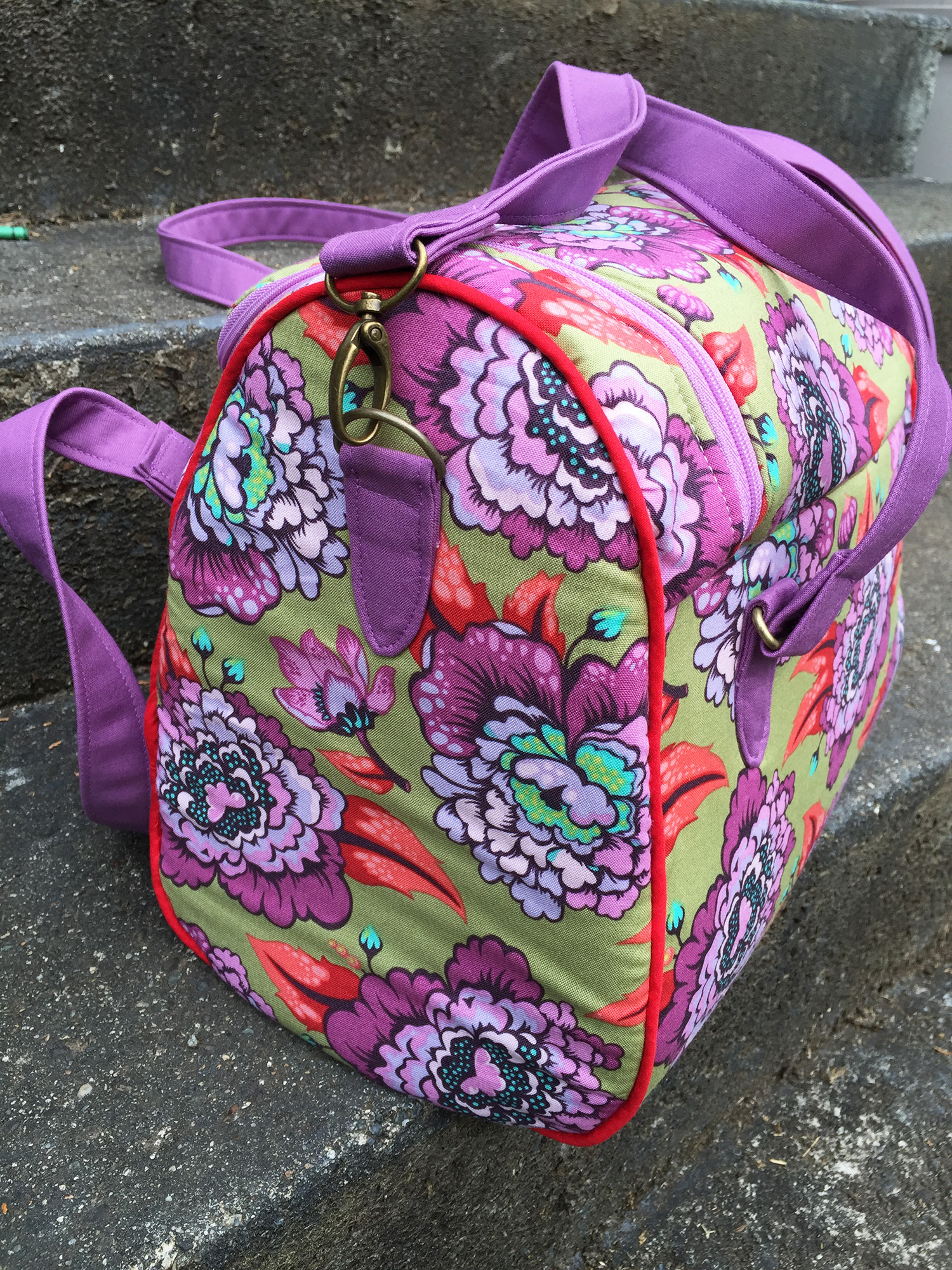 Sew Sweetness Tortoise Bag sewing pattern, sewn by Reece