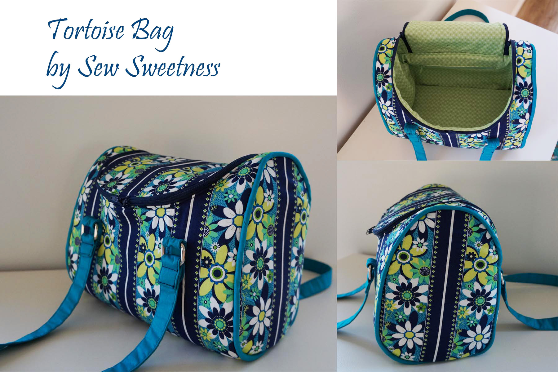 Sew Sweetness Tortoise Bag sewing pattern, sewn by Fiona