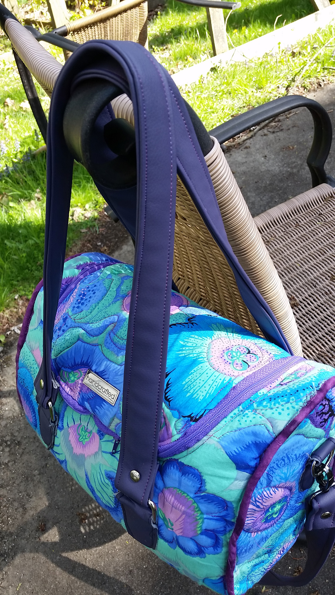 Sew Sweetness Tortoise Bag sewing pattern, sewn by Donna