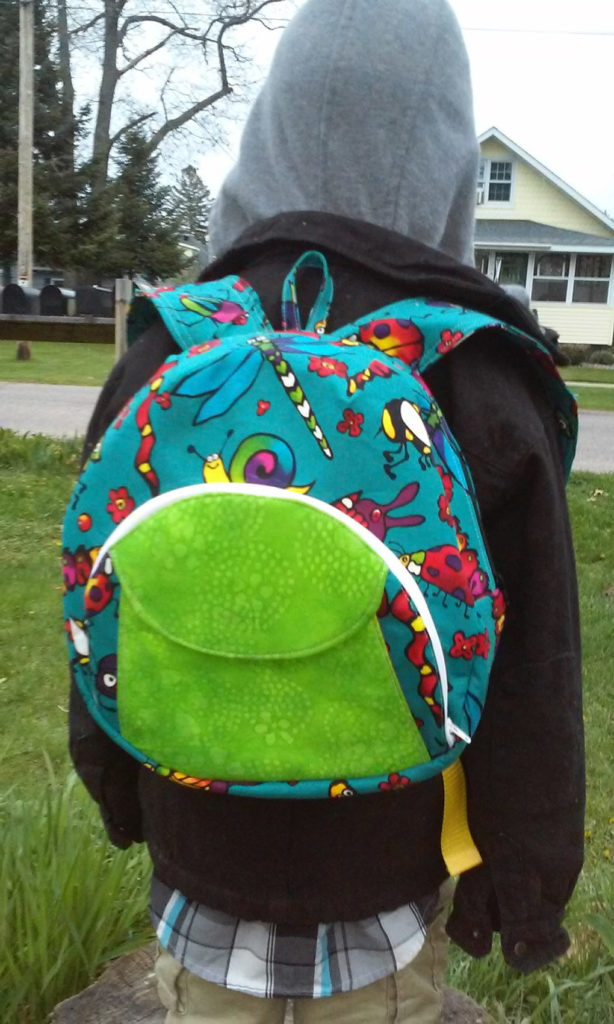 Sew Sweetness Cumberland Backpack, sewn by Jennifer