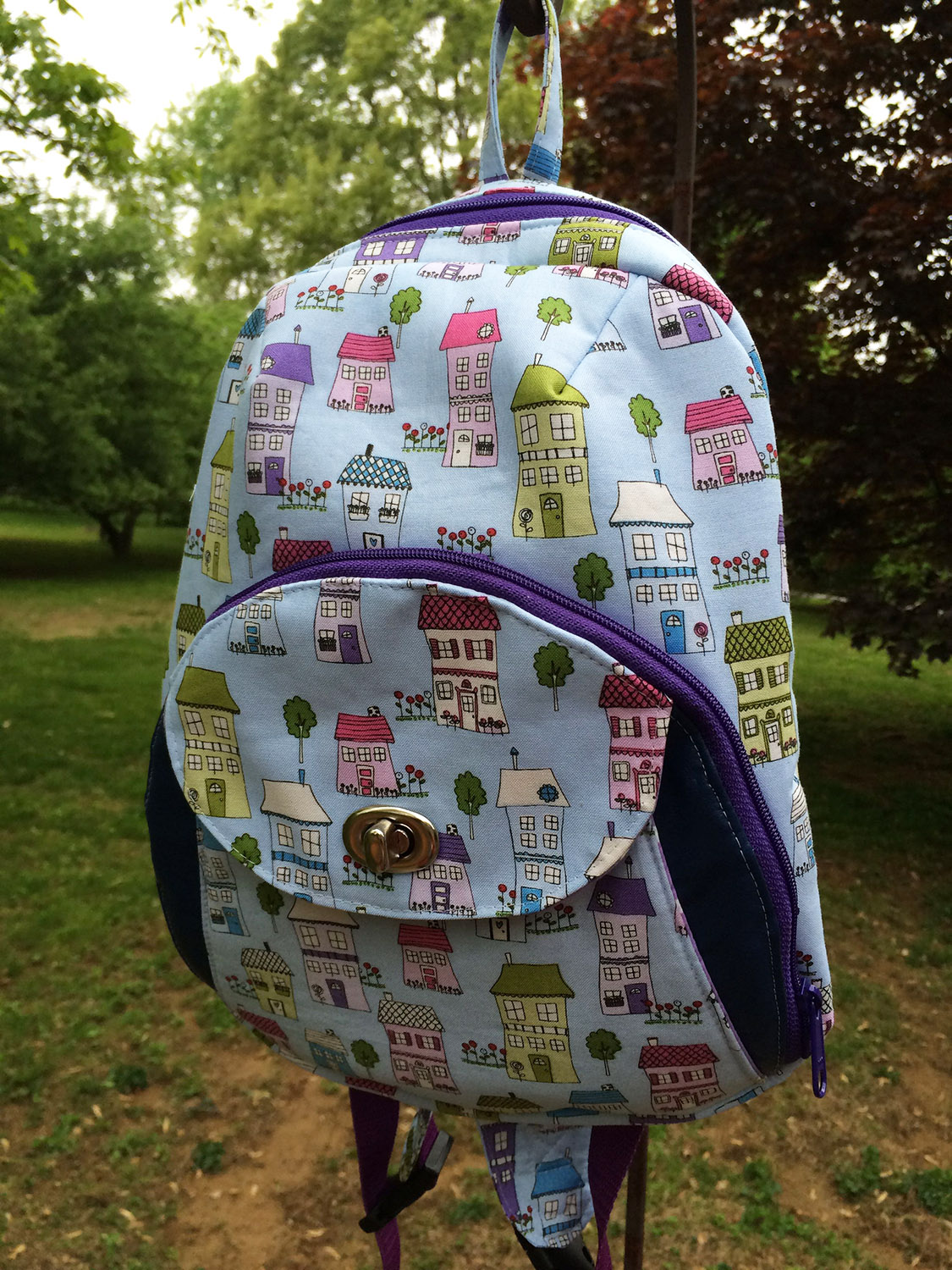 Sew Sweetness Cumberland Backpack, sewn by Maria of Beautiful Blooms