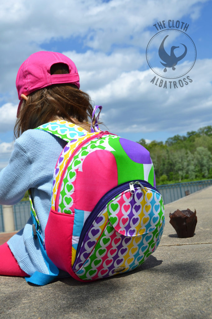 Sew Sweetness Cumberland Backpack sewing pattern, sewn by Crystal of the Cloth Albatross