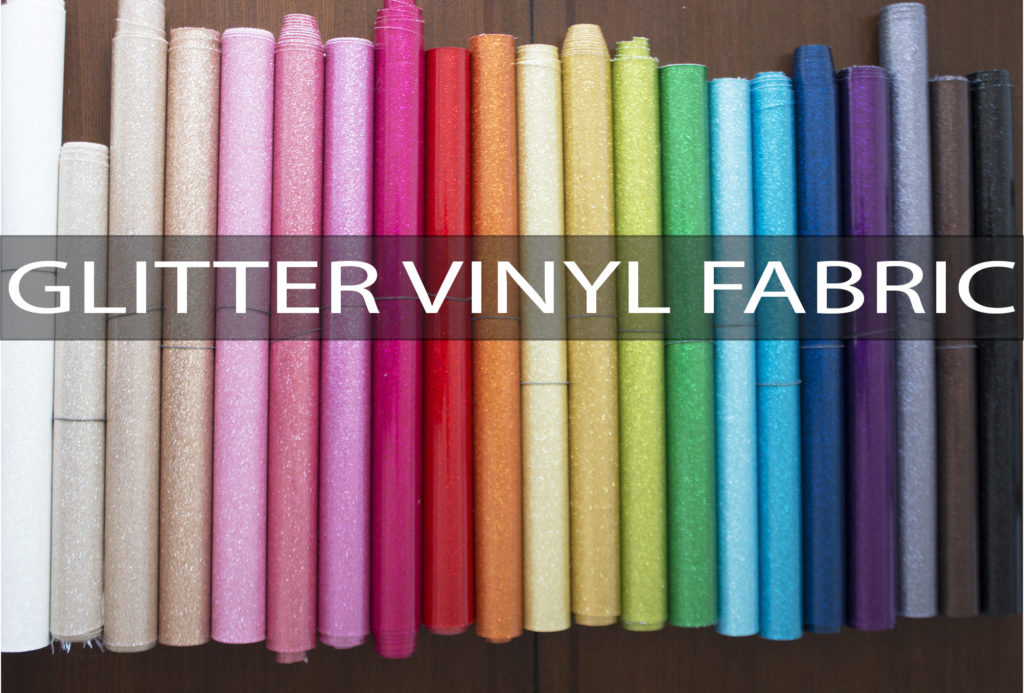 Glitter Vinyl Fabric from Sew Sweetness