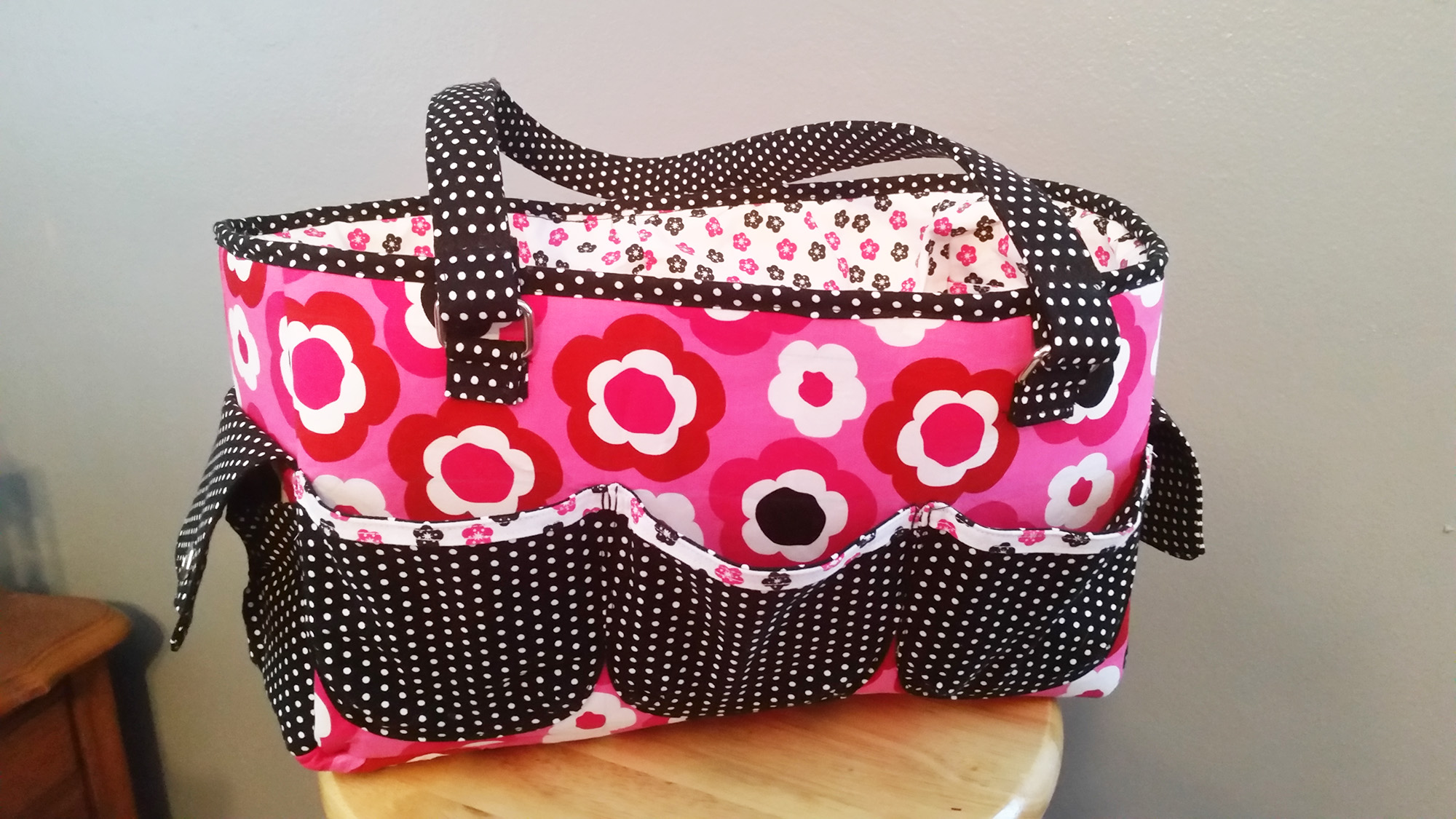 Sew Sweetness Oslo Craft Bag sewing pattern, sewn by Teresa