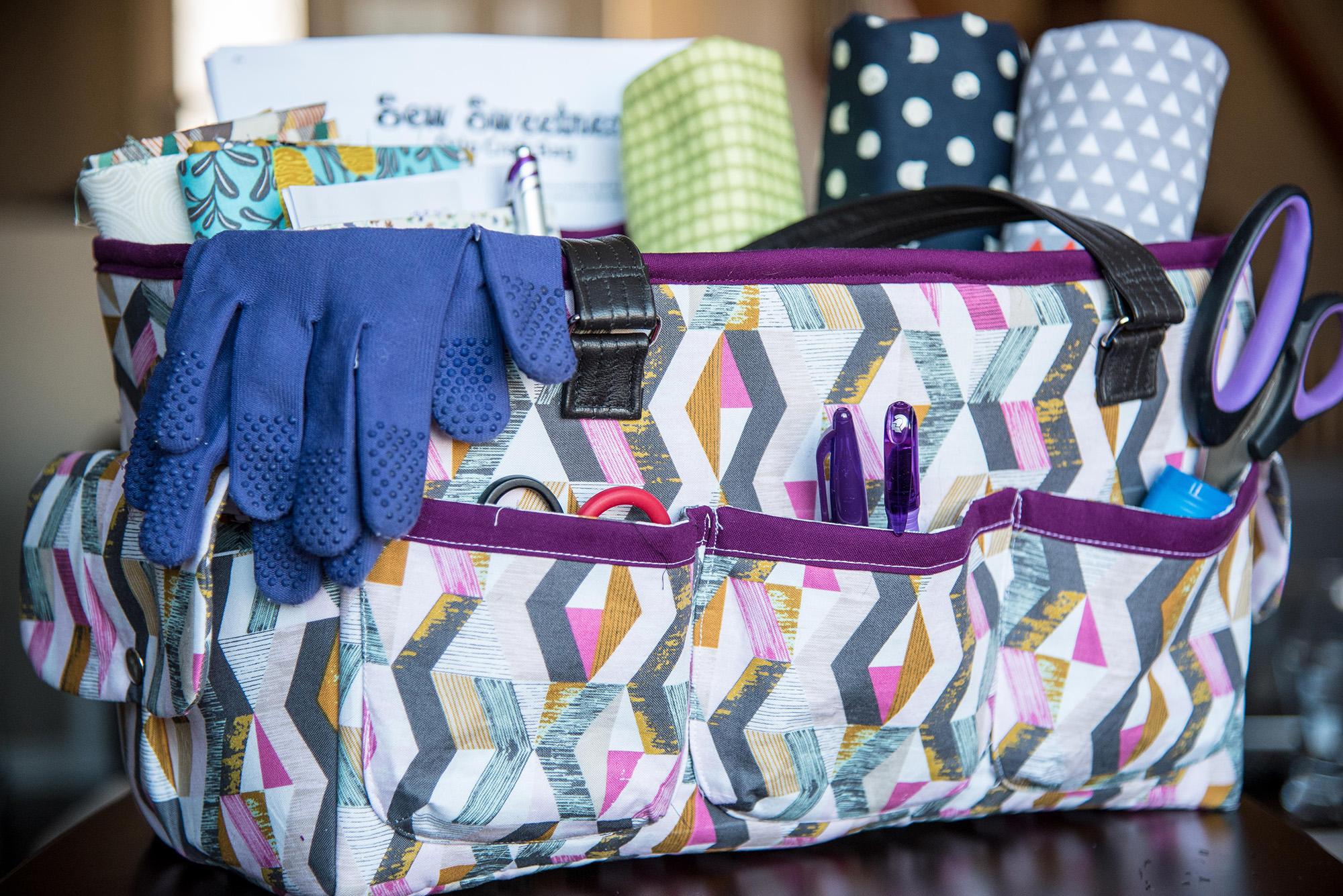 Sew Sweetness Oslo Craft Bag, sewn by Trina