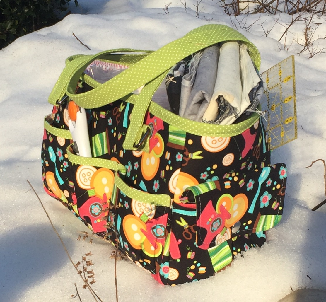 Sew Sweetness Oslo Craft Bag sewing pattern, sewn by Nancy