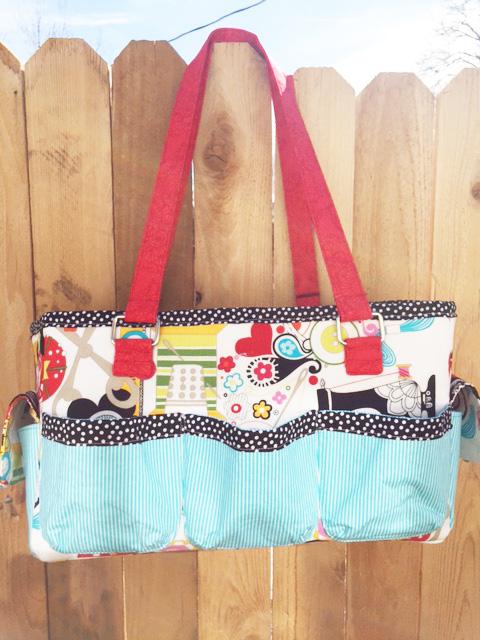 Sew Sweetness Oslo Craft Bag sewing pattern, sewn by Paula