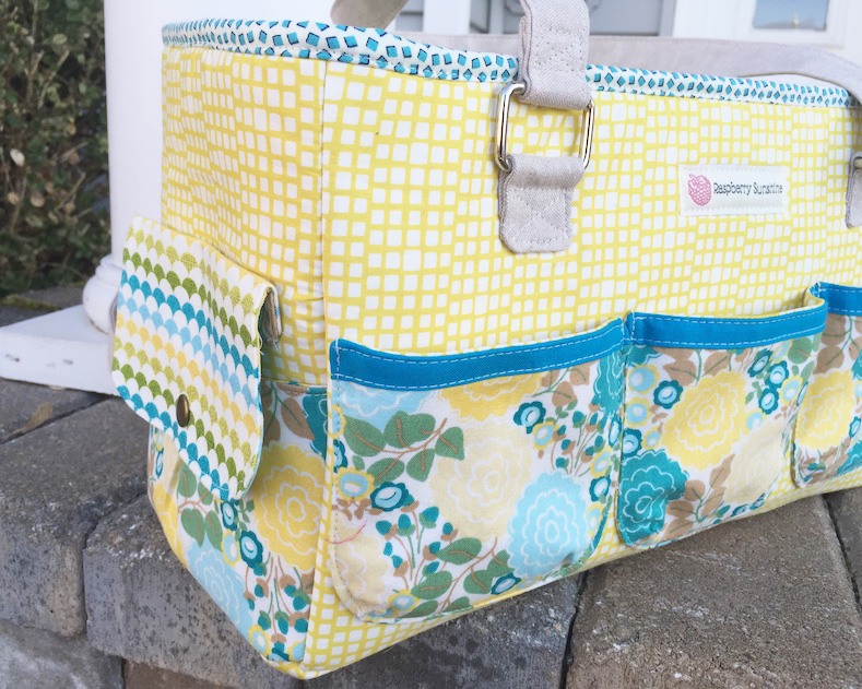 Sew Sweetness Oslo Craft Bag sewing pattern, sewn by Cindy of Raspberry Sunshine