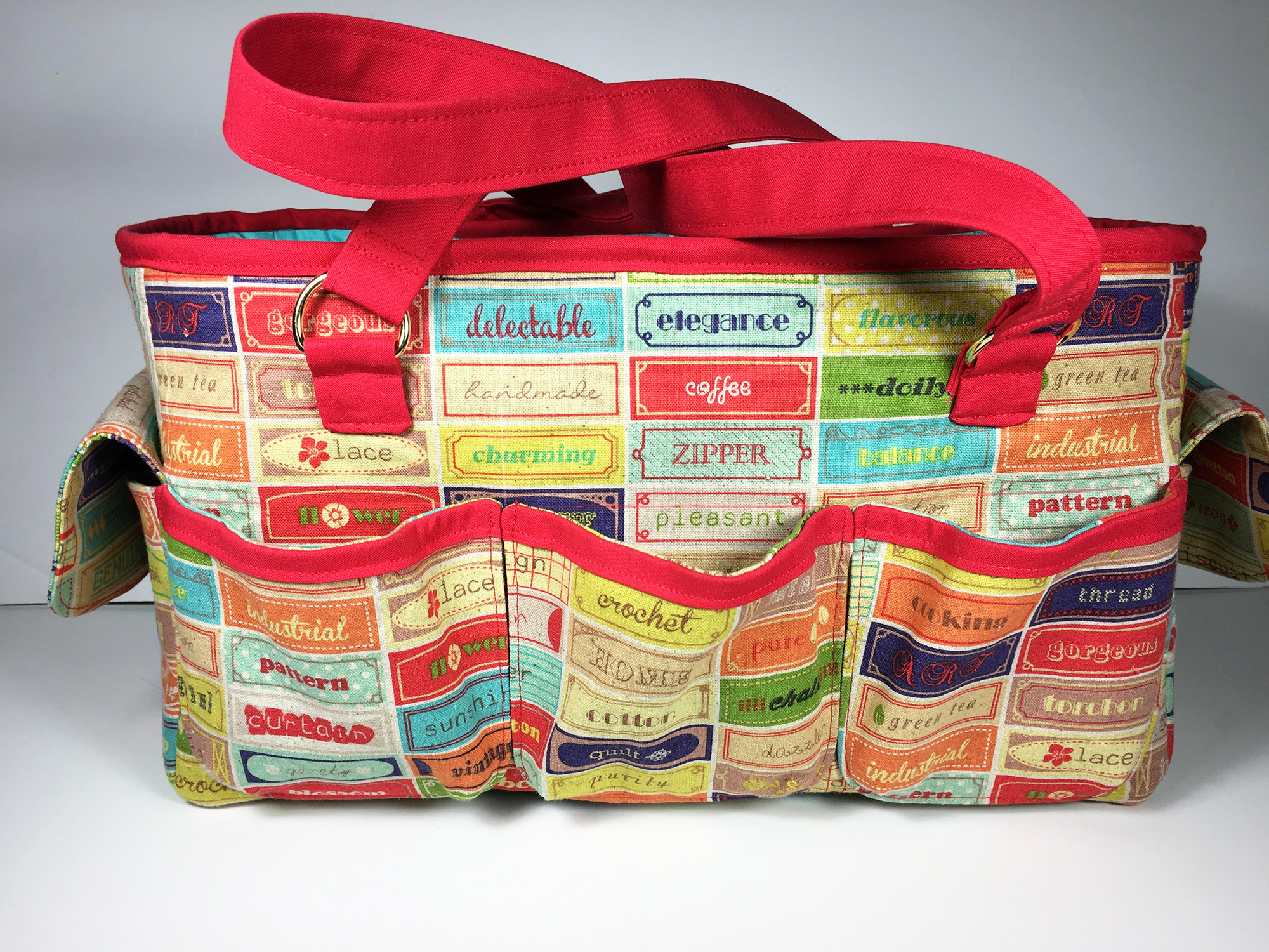 Sew Sweetness Oslo Craft Bag sewing pattern, sewn by Mary of Mary on Lake Pulaski