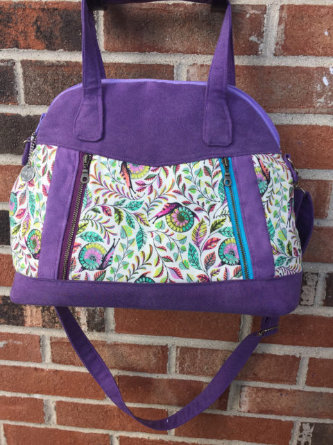 Sew Sweetness Sublime Bag sewing pattern, sewn by Madelyn