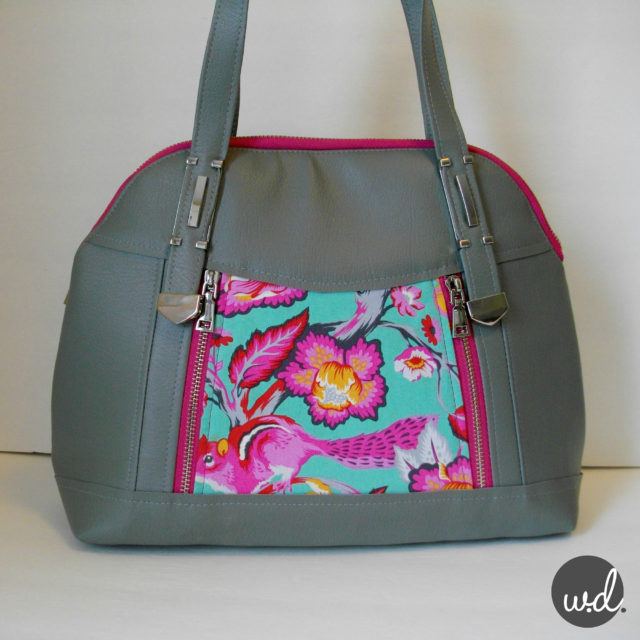 Sew Sweetness Sublime Bag sewing pattern, sewn by Wendy of W.D. Handbags