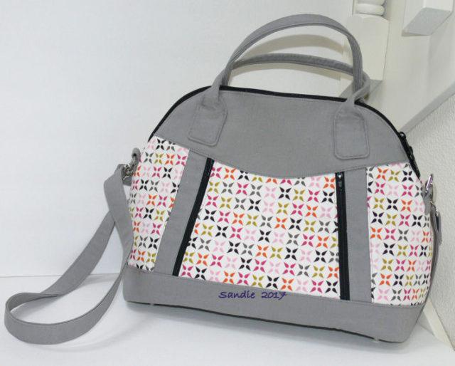 Sew Sweetness Sublime Bag sewing pattern, sewn by Sandie