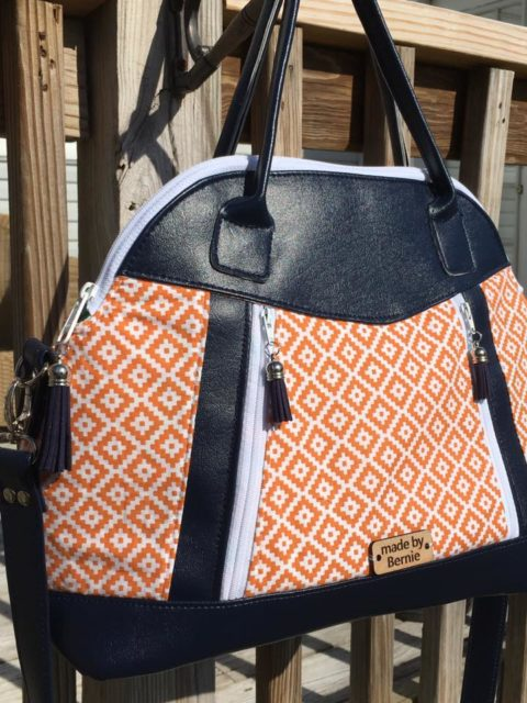Sew Sweetness Sublime Bag sewing pattern, sewn by Bernie