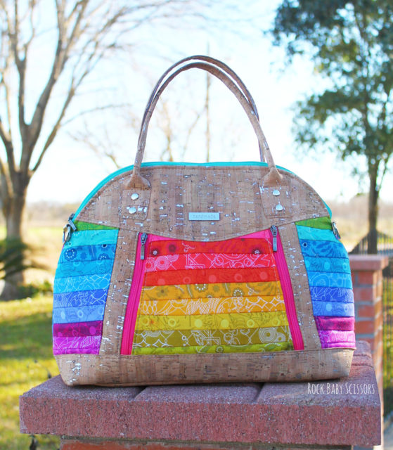 Sew Sweetness Sublime Bag sewing pattern, sewn by Kristy