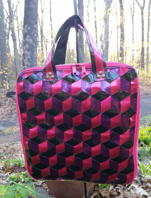 Sew Sweetness Amethyst Project Bag sewing pattern, sewn by Lori
