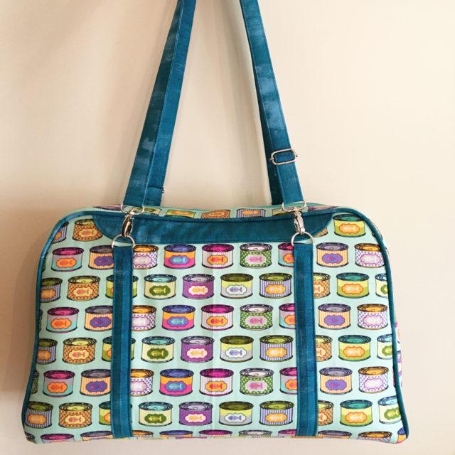 Sew Sweetness Reisende Bag sewing pattern, sewn by Gert