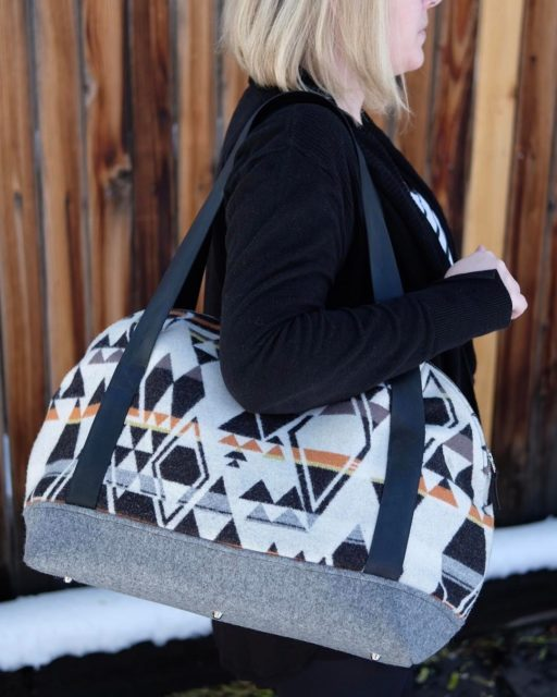 Sew Sweetness Aeroplane Bag sewing pattern, sewn by larafed12