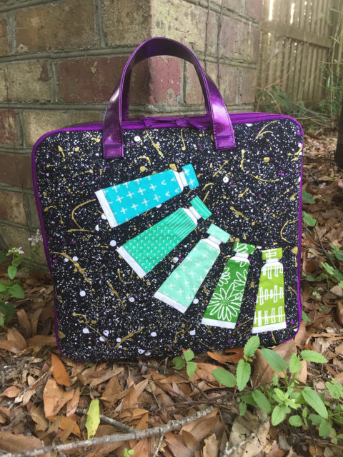 Sew Sweetness Amethyst Project Bag sewn by Jordan