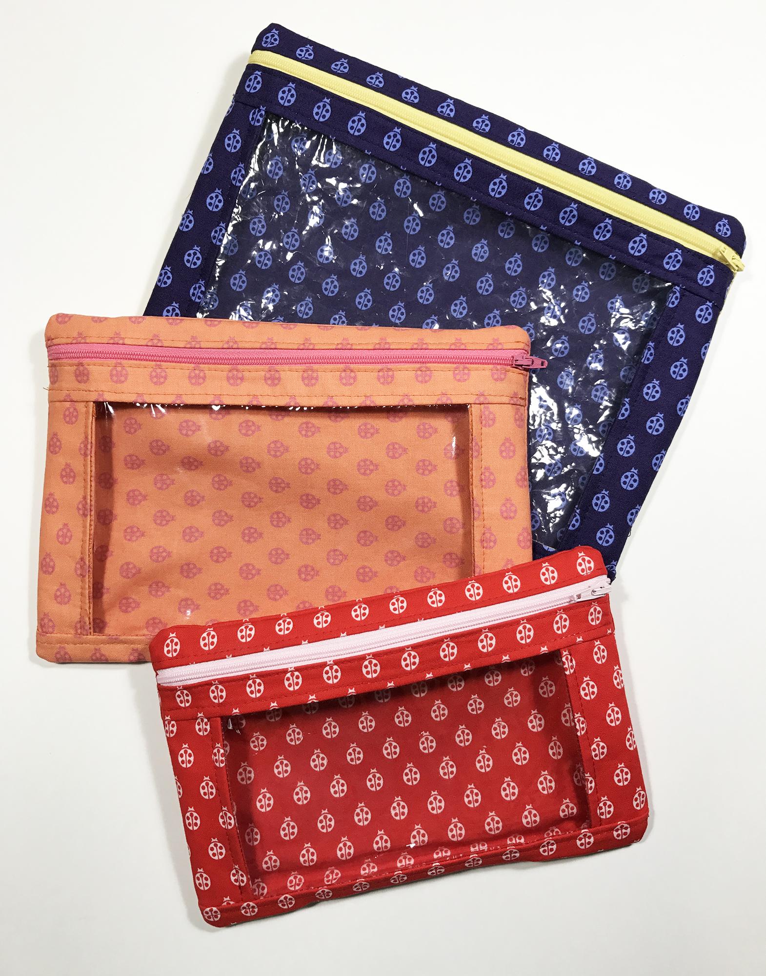 Sew Sweetness Minikins I-Spy Pouches sewing pattern, sewn by Angelina