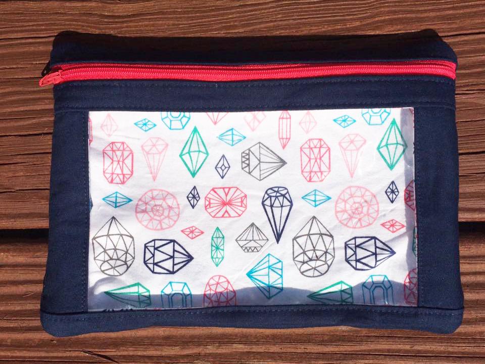 Sew Sweetness Minikins I-Spy Pouches sewing pattern, sewn by Maryanna