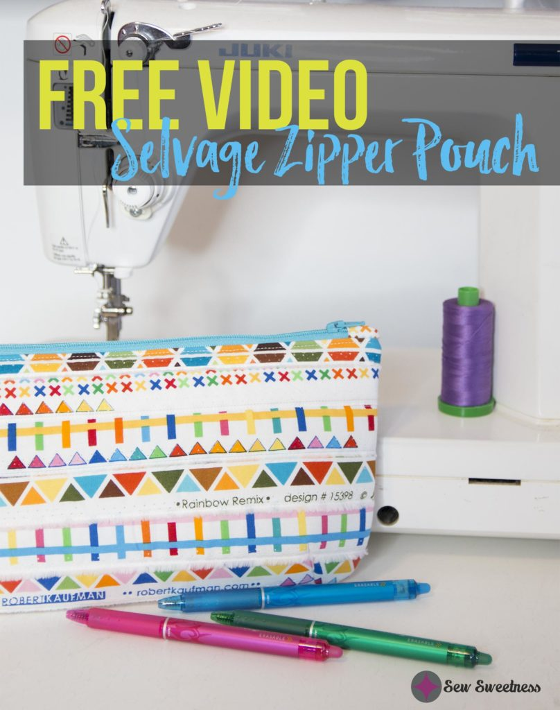 FREE VIDEO: Selvage Zipper Pouch