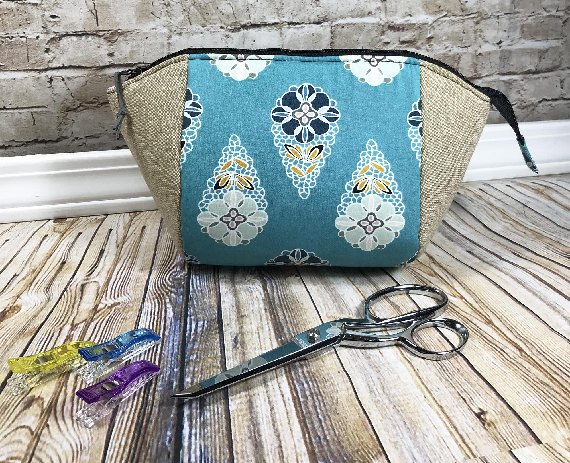 Sew Sweetness Minikins Cotton Candy Pouches sewing pattern, sewn by Angelina