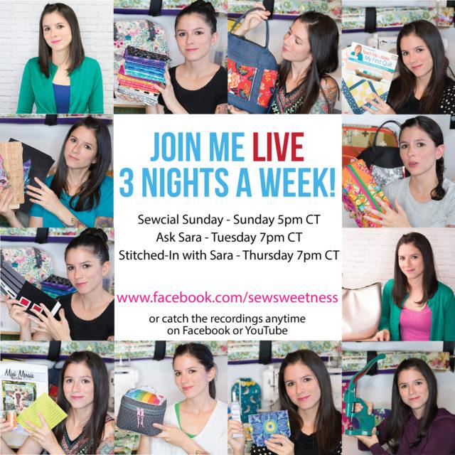 Sew Sweetness Facebook Live