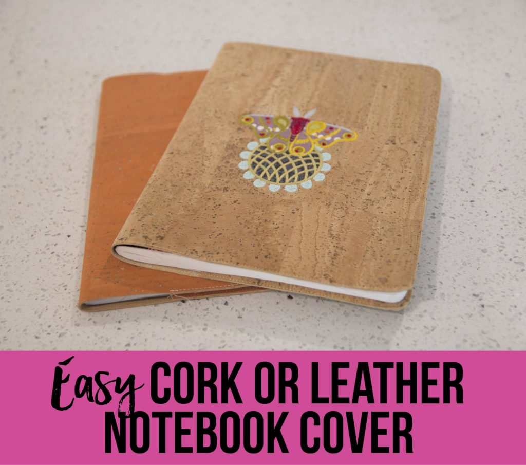 FREE Video: Sew Sweetness Easy Cork or Leather Notebook Cover