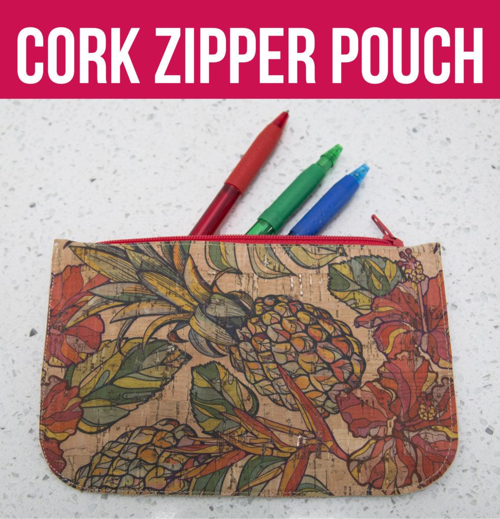 Video Cork Zipper Pouch Sew Sweetness